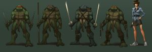 TMNT character designs by danimation2001
