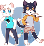felix and mittens by irlnya