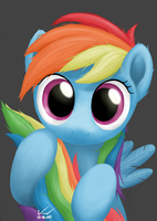Curious Rainbow Dashie by SymbianL