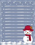 Snowlady Stationery by LunarousCrescent