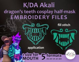 LOL KDA Akali mask by LilSy-workshop