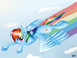 Sonic Rainboom by ShyShyOctavia