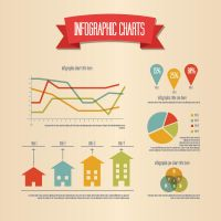 RETRO INFOGRAPHIC VECTOR GRAPHIC by FreePSDDownload