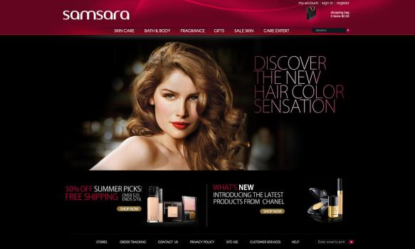 Cosmetic store template by zozoncica