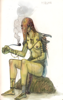 smoking witch by zhirfrox