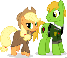 Applejack and Applesnack by StarlessNight22