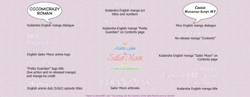 Fonts and Typefaces Used in Sailor Moon by the-sweet