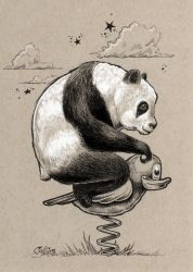 Panda on a Park Duck by bryancollins