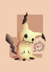Mimikyu Love by autumncoloredmelodie