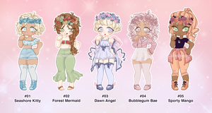 Flower Crown Adopts (CLOSED) by moon-ji