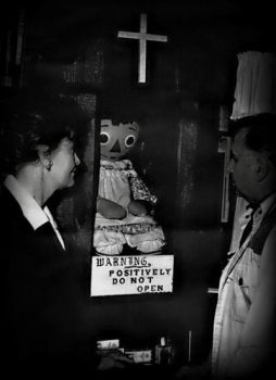 The real Annabelle doll with Ed - Lorraine Warren by NotRightInTheHead74