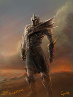 Ancient Warrior the first statius by RS-LegendArts