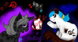 Myu and Smokey MLP versions by LovelyNeko-MeE0w