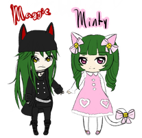 Maggie and Minty Request by RoeKieko