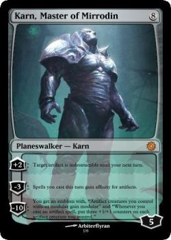 Karn, Master of Mirrodin by Darthmezcal