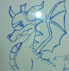 Spyro the Dragon on the Whiteboard by TheRandomGirlXD