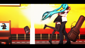 MMD By The Train Station by ErrorEnvy