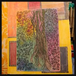 art journal tree by bleaknimue