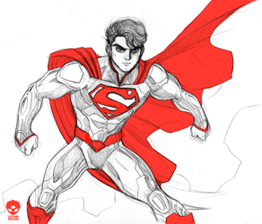 Superman Sketch by LucianoVecchio