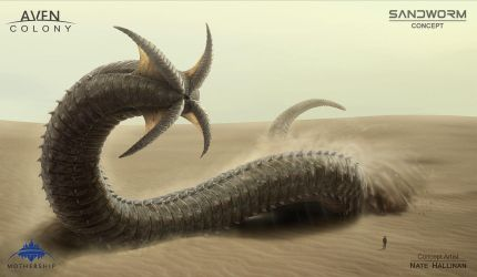 Sandworm Alien by NateHallinanArt