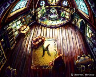 The Hufflepuff Common Room by mcgray