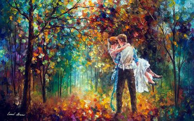 The Moment Of Love by Leonid Afremov by Leonidafremov