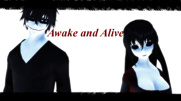 MMD Creepypasta Awake And Alive Video Jane X Jeff by Blackrabbit1234