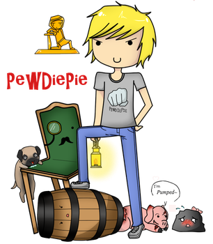 .:PewDiePie and the group:. by Zexionandbandit