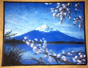 Blue Fuji  by IcyMountainBug