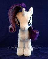 Rarity plushie Front by WhiteHeather