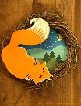 Red fox wreath by CannonCat
