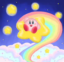 Kirby Above Dreamland by ShadedPenumbra