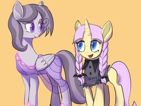 Fashion Ponies swapped clothes by Montano-Fausto