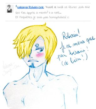 Blushing Sanji by MauGraphorse
