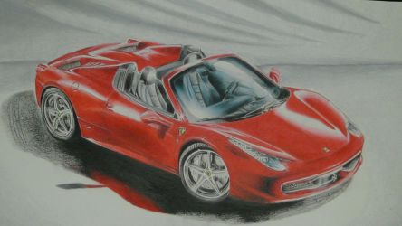 Ferrari Colored Pencils by World-X-Movement