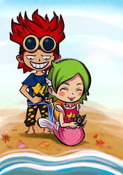 Exchanging Gifts (Keimi x Kidd from One Piece) by MajorasMasks