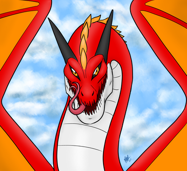 Red dragon by Sakkigami