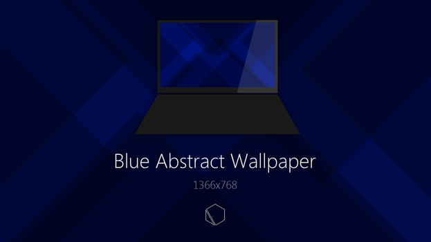 Blue Abstract Wallpaper by TheButterCat