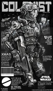 COLONIST magazine cover by HorcikDesigns