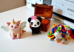 Polymer Clay Critters by Lighane