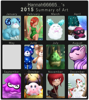 dA 2015 Summary of Art by Hannah66665