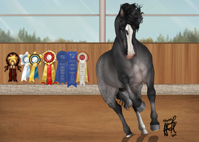 TPS Crixus The Undefeated Stallion by KittycatNita