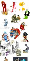 dc doodles by faQy