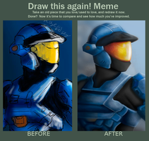 Draw This Again Meme - Spartan by ROGUEKELSEY