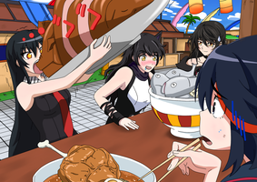 Time to eat! (Blake,Ryuko,Akame,Velvet) by P-BOY46