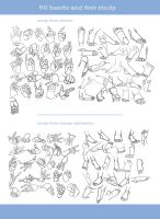 [How to] 50 Hands and feet study by IEnideI