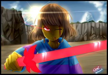 LV, Frisk Speedpaint   Collab with Kitmast! by CamilaAnims