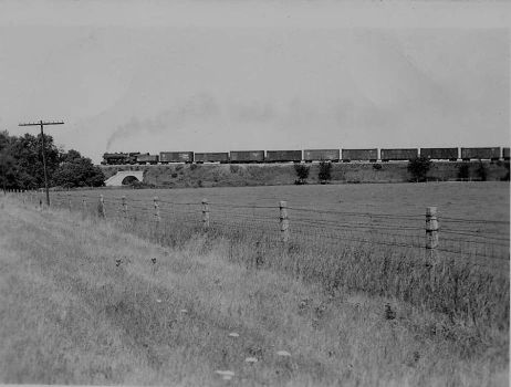 C+NW JA class on a freight by PRR8157