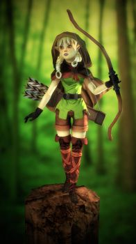 Dragon's Crown Archer Character For Games Final by PioPauloSantana