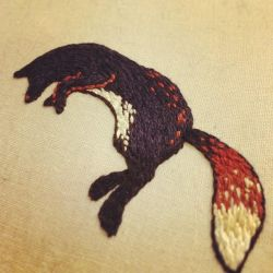 Fox embroidery sample by eep